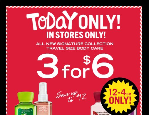 Signature Collection Travel Size Body Care - 3 for $6