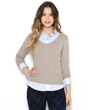 Maglierie Di Perugia V-Neck Cashmere Sweater- Made in Italy