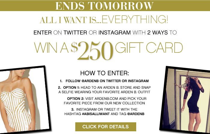 Instagram Twitter Contest Ends Today