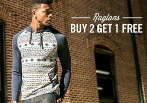 Shop Buy 2 Get 1 Free: Raglans