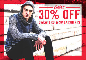 Shop Extra 30% Off Sweaters & Sweatshirts