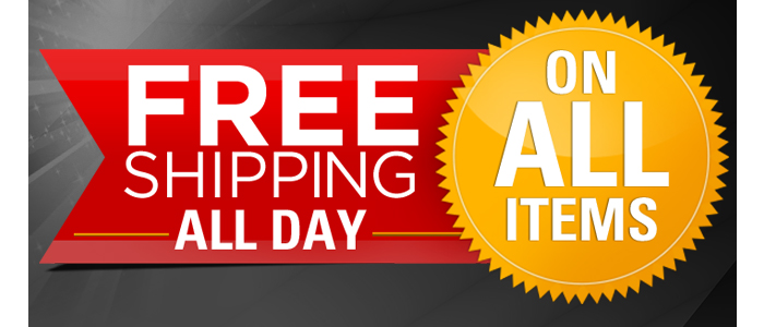 Free Shipping on All items all day