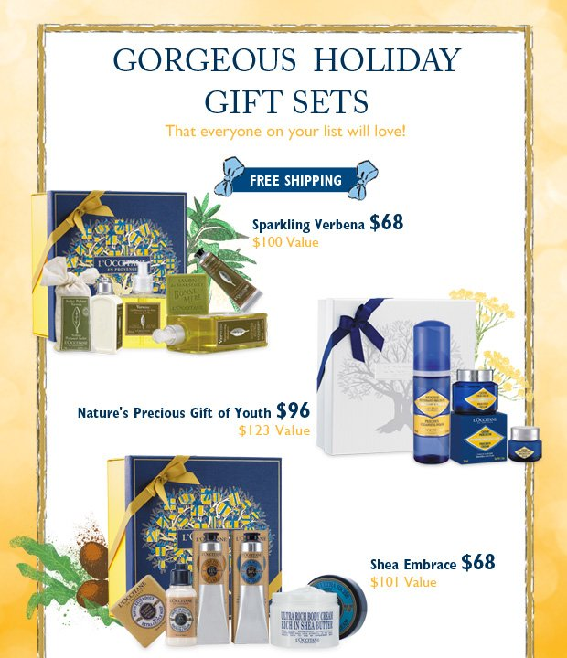 Gorgeous Holiday Gift Sets