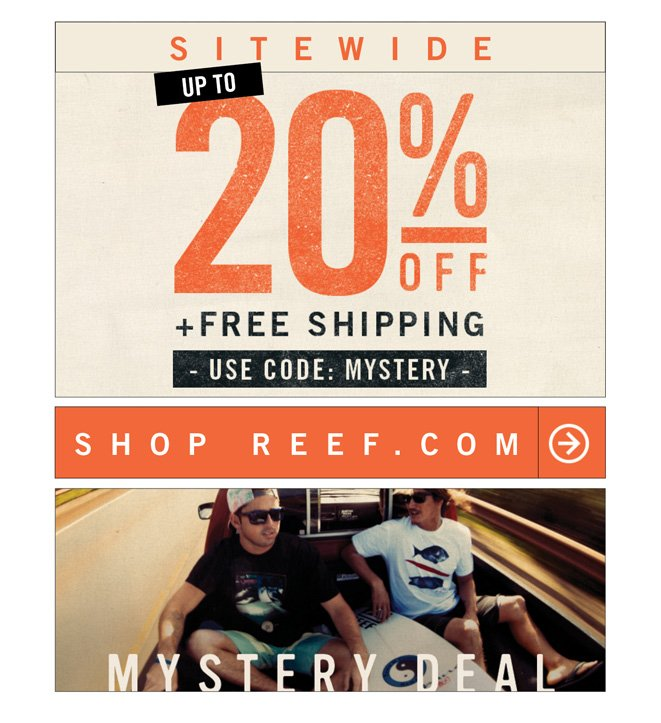 ? Your Mystery Deal Expires at Midnight. UP TO 20% off +Free Shipping