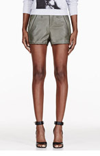 RAG & BONE Olive Leather Shorts for women