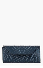 GARETH PUGH Black Patent Embossed Wallet for women
