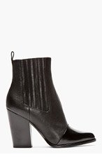 KENZO Black leather Paris Texas Kara boots for women