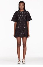 STELLA MCCARTNEY Black Heart Print Overlay Dress for women