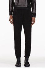 SILENT BY DAMIR DOMA Black velveteen harem pants for women