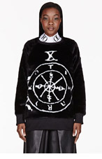 KTZ Black Wheel Of Fortune Sweater for women