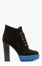 KENZO Black suede Prisci Carolina boots for women