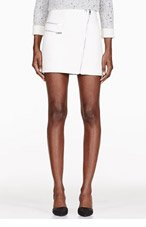 RAG & BONE Ivory Hudson Leather Skirt for women