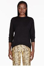 STELLA MCCARTNEY Black crewneck sweater for women