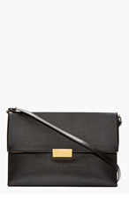 STELLA MCCARTNEY Black Faux-leather envelope Shoulder Bag for women