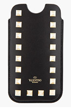 VALENTINO Black Studded Iphone 5 Case for women