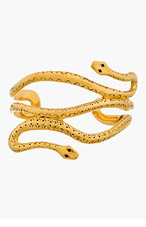 AURÉLIE BIDERMANN Gold plated Wild West mamba Cuff for women
