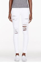 FRAME DENIM White Distresssed Jeans for women