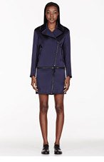 RAG & BONE Navy Rally Zip Coat for women