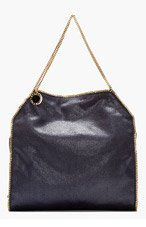 STELLA MCCARTNEY Navy & gold Big Tote Baby Chain for women
