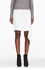 RICK OWENS Ivory bone bead skirt for women