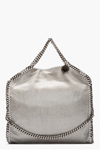 STELLA MCCARTNEY Light grey Fover Falab Shagder bag for women
