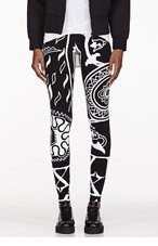 KTZ Black 4 Cards Print Leggings for women
