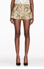 STELLA MCCARTNEY Gold Snake Print Shorts for women
