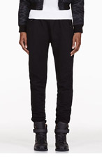 EN NOIR Black Quilted Lounge Pants for women