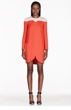 STELLA MCCARTNEY Red Cut-Out Tunic Dress for women