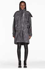 SILENT BY DAMIR DOMA Grey Oversized Parka for women