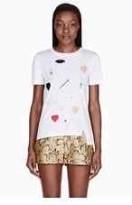 STELLA MCCARTNEY White Jewel Embellished T-Shirt for women