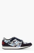 KENZO White & blue tiger Head Snax Sneaker for women