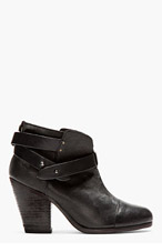 RAG & BONE Black wraparound strap Harrow Boots for women