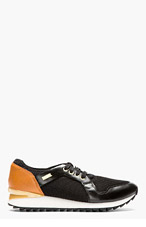 DIESEL Black & Tan Tazy Low Top Sneakers for women