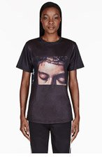 EN NOIR Black JESUS HEAD AND HANDS T-SHIRT for women