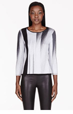 HELMUT LANG Grey Virga Jacquard Sweater for women