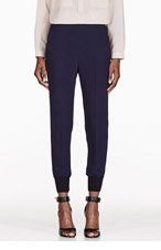 STELLA MCCARTNEY Navy Harem Trousers for women
