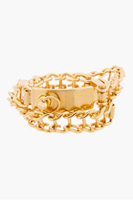 CHLOE Gold Bessie Double-wrap Bracelet for women