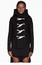 RICK OWENS Black bone toggle jacket for women