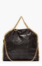 STELLA MCCARTNEY Black & gold Falab Baby Tote for women