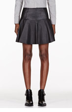 RAG & BONE Black Panelled Leather Skirt for women