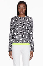 STELLA MCCARTNEY Black & White Heart Print Sweater for women