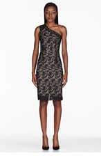 STELLA MCCARTNEY Black One Shoulder Lace Dress for women