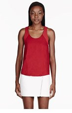 RAG & BONE Red Silk Tank Top for women