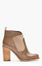 MARC BY MARC JACOBS Brown leather Mix Up Mod Ankle Boots for women