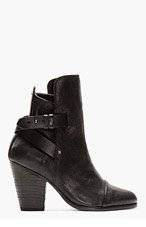 RAG & BONE Black wraparound-strap Kinsey Boots for women