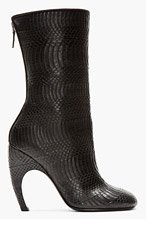 GIVENCHY Black Eel Snakeskin Luna Boots for women