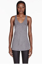 T BY ALEXANDER WANG Heather grey pocket tank top for women