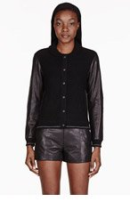 RAG & BONE Black Reina Varsity Jacket for women