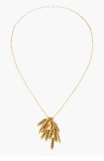 AURÉLIE BIDERMANN Gold Plated Wheat head twisted chain necklace for women